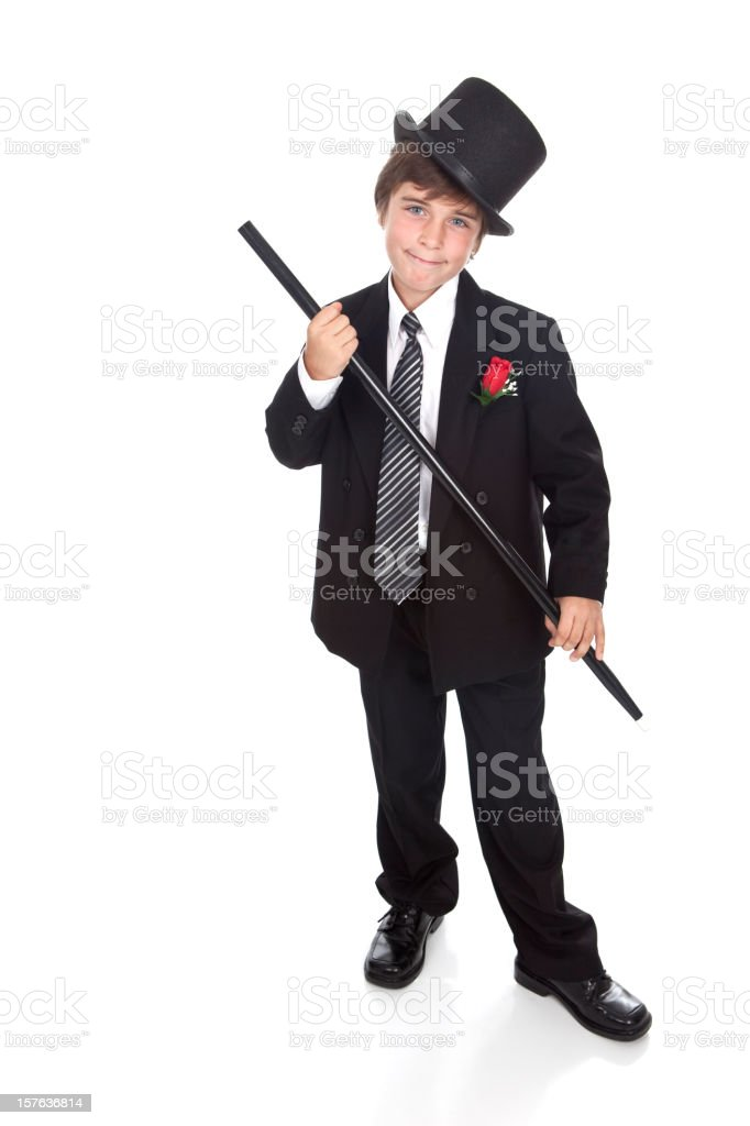 Clowning with a Top Hat and Cane stock photo