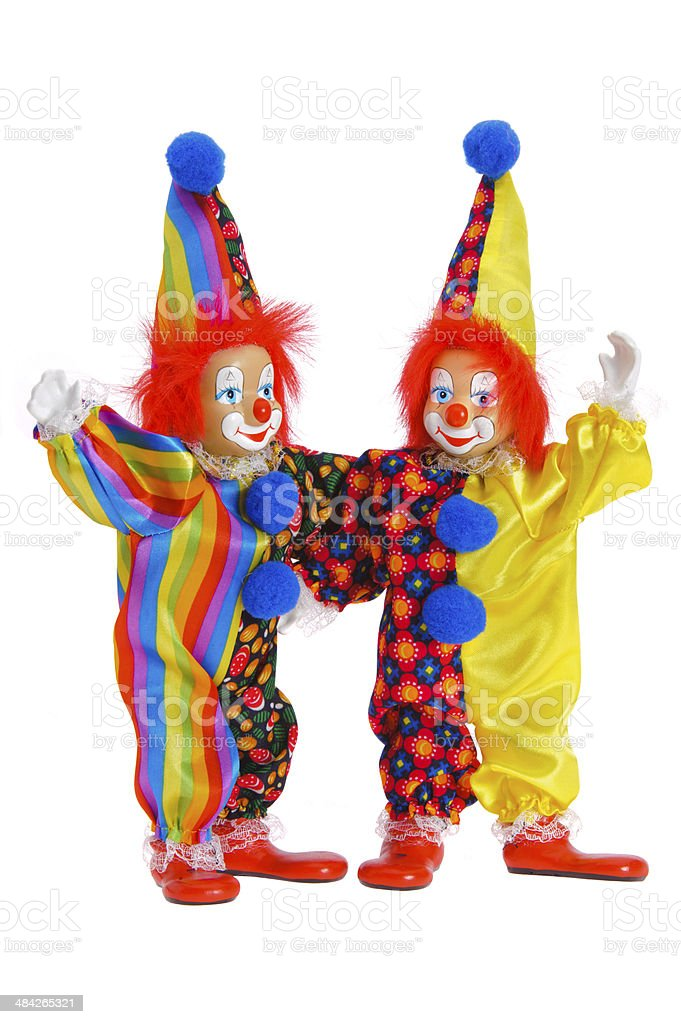 Clowns at carnival stock photo