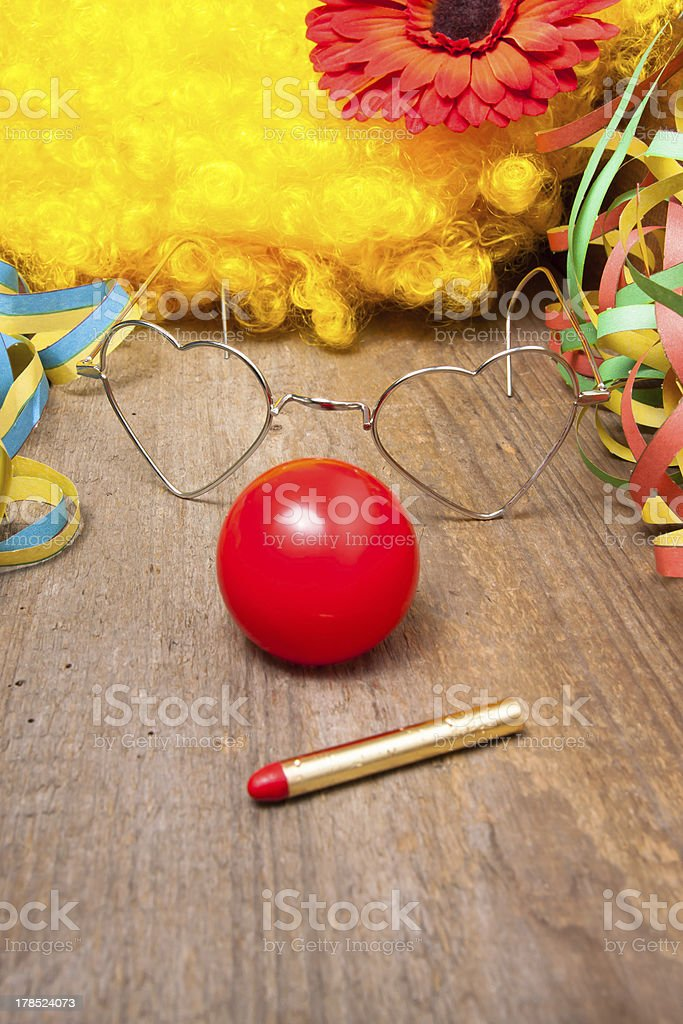 Clowns costume and makeup pen stock photo