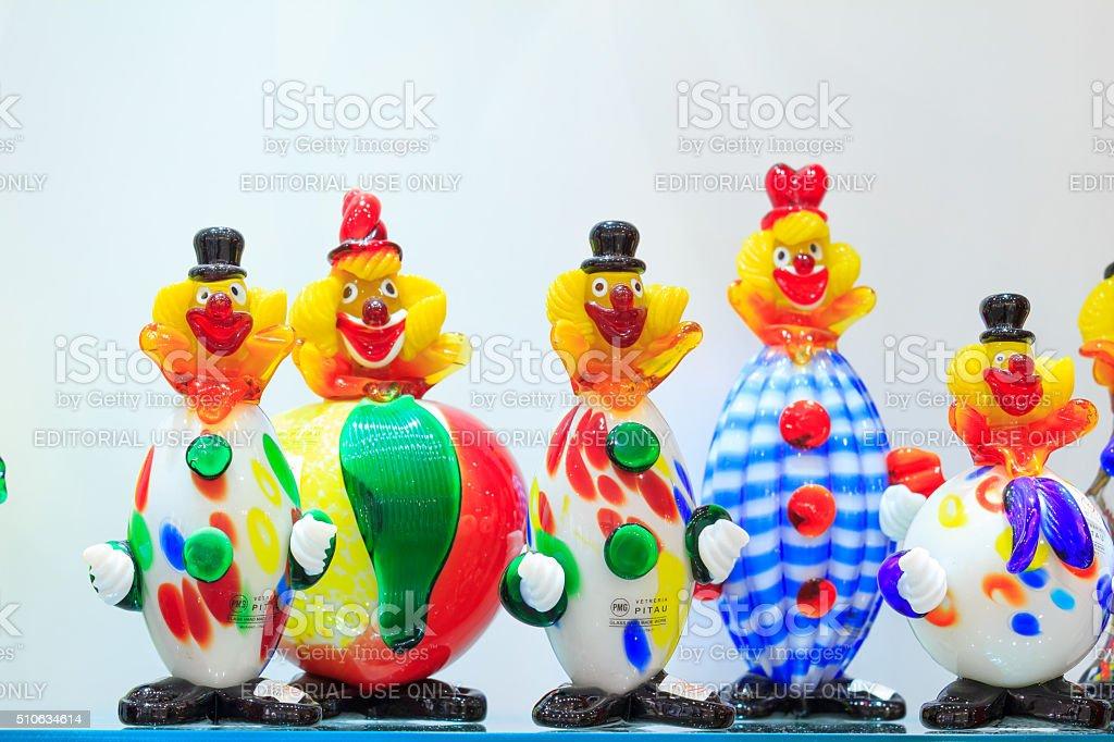 Clowns of Venetian Glass, Italy stock photo