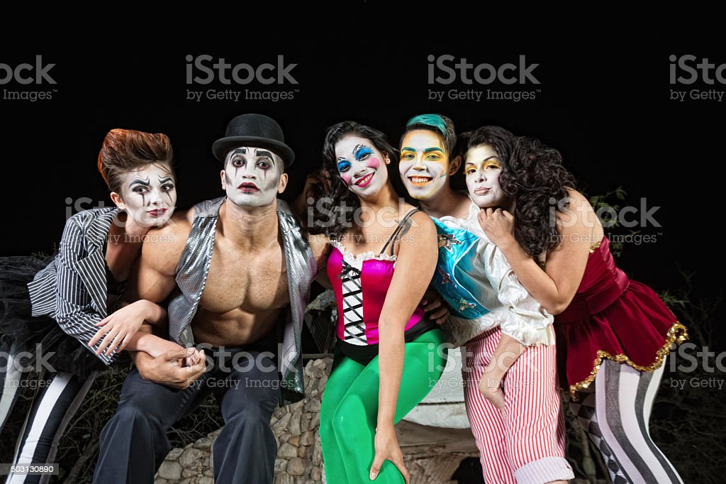 Clowns on Stage stock photo