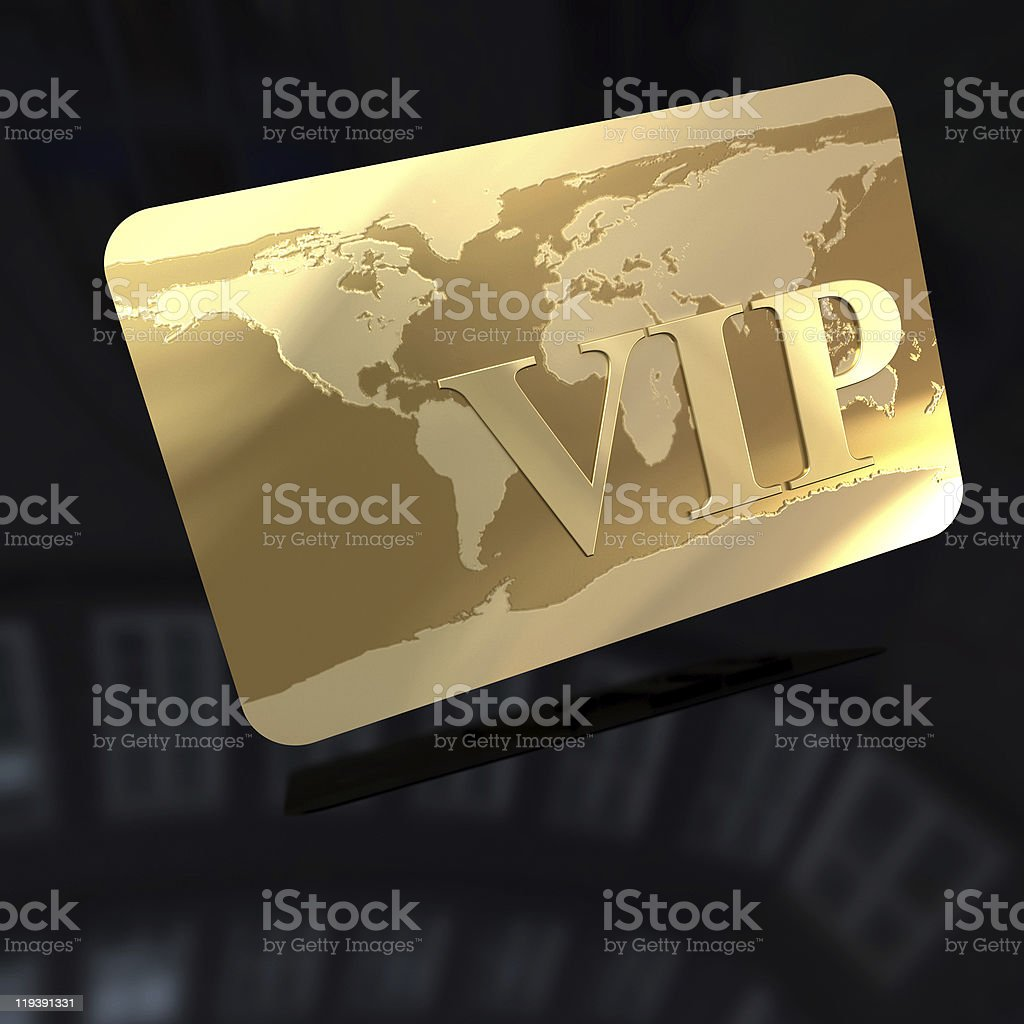 VIP Club card royalty-free stock photo