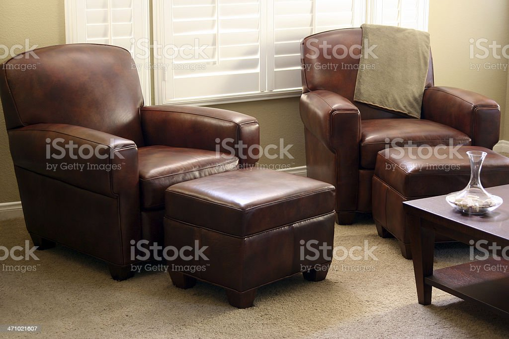 Club Chairs royalty-free stock photo