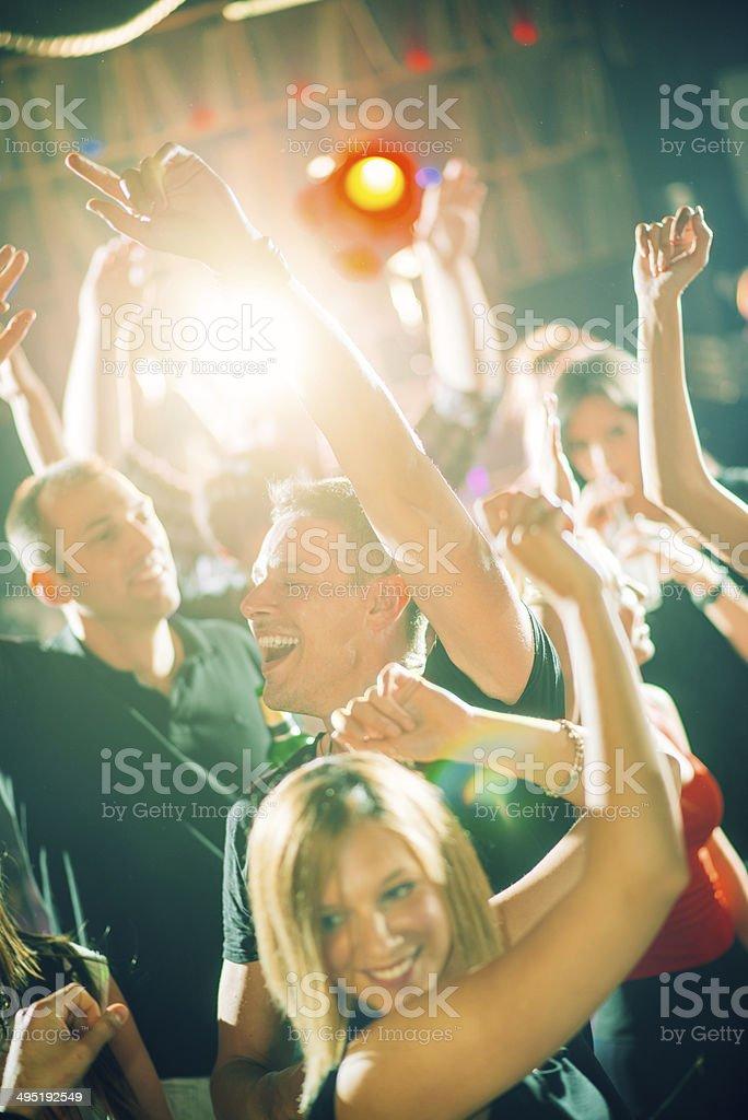 Club dancing royalty-free stock photo