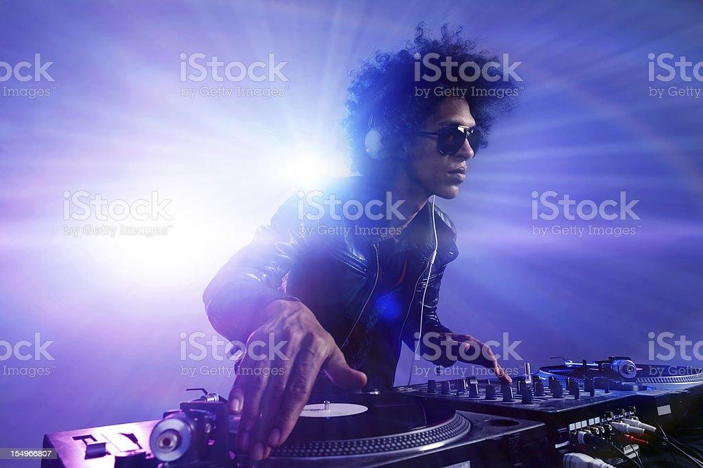 Club party dj stock photo