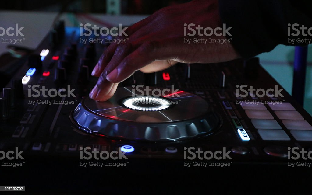 DJ @ Club stock photo