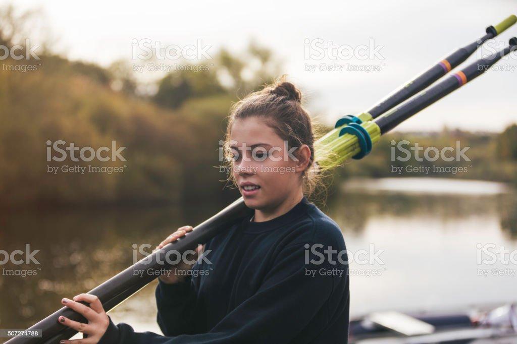 Club Rower stock photo