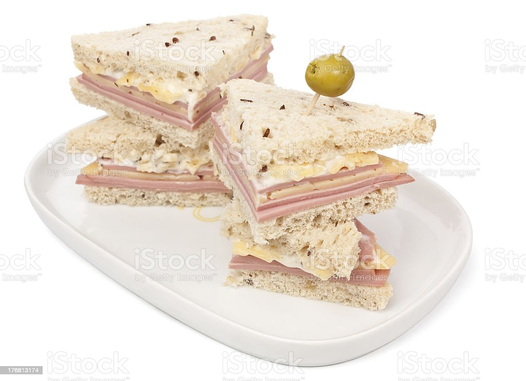 club sandwiches royalty-free stock photo