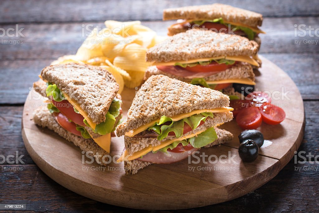 Club Sandwiches stock photo