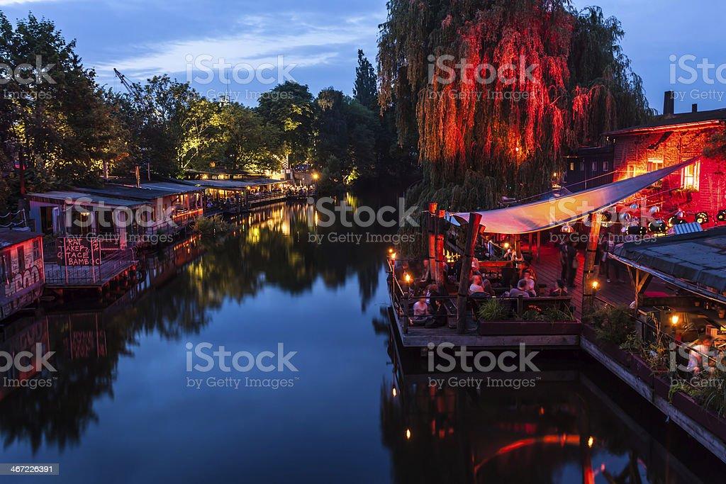 Club scene in Berlin stock photo