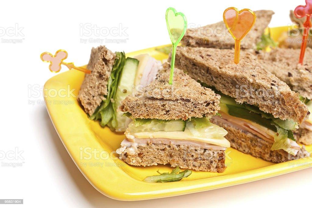 club tea sandwiches stock photo