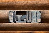 club wooden tray