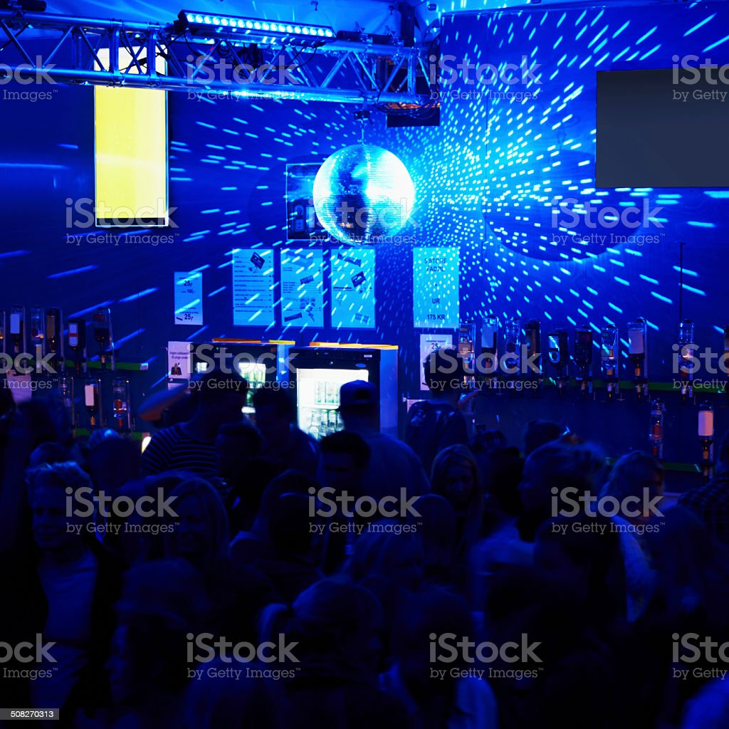 Clubbing the night away stock photo