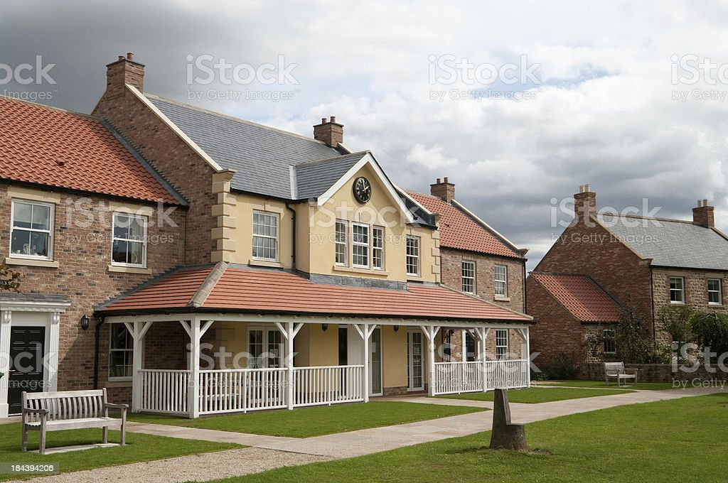 Clubhouse and community centre - newly built stock photo