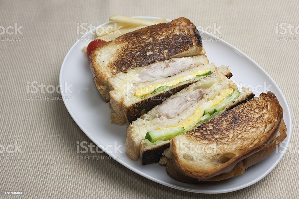 clubhouse sandwich royalty-free stock photo