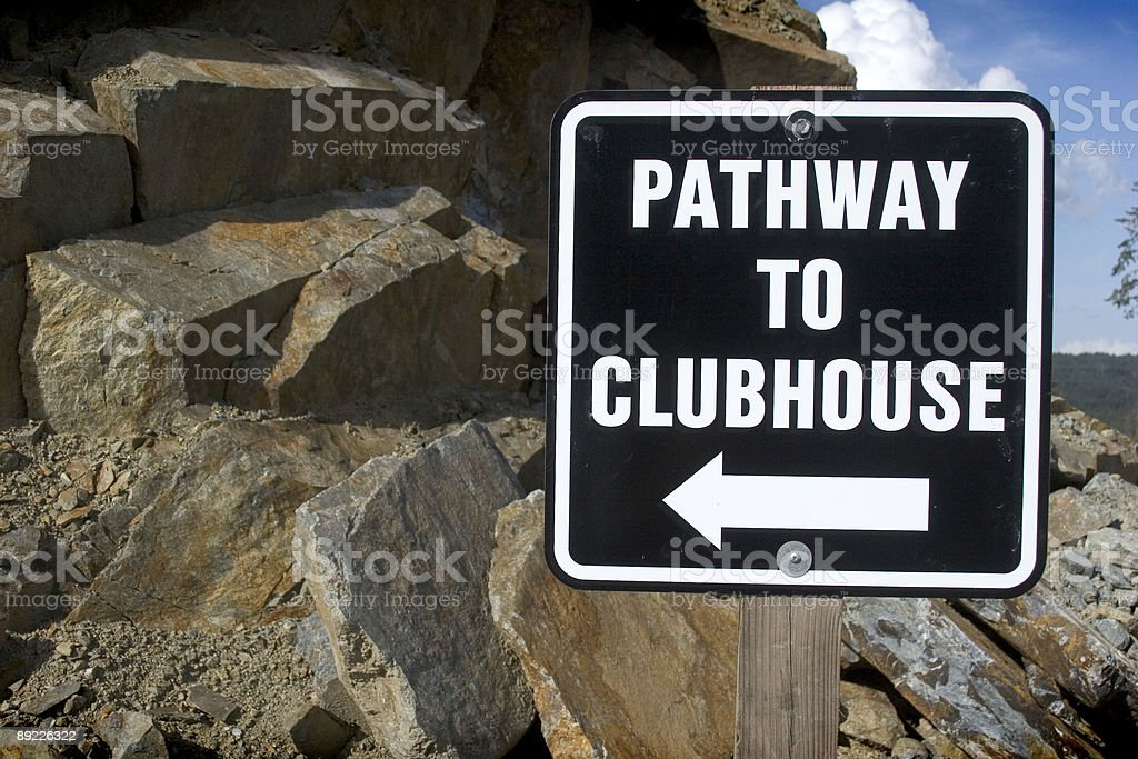 Clubhouse Sign royalty-free stock photo