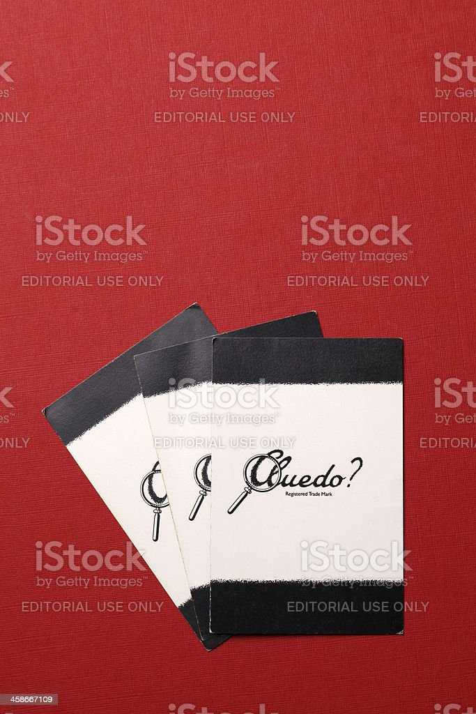 Cluedo cards royalty-free stock photo