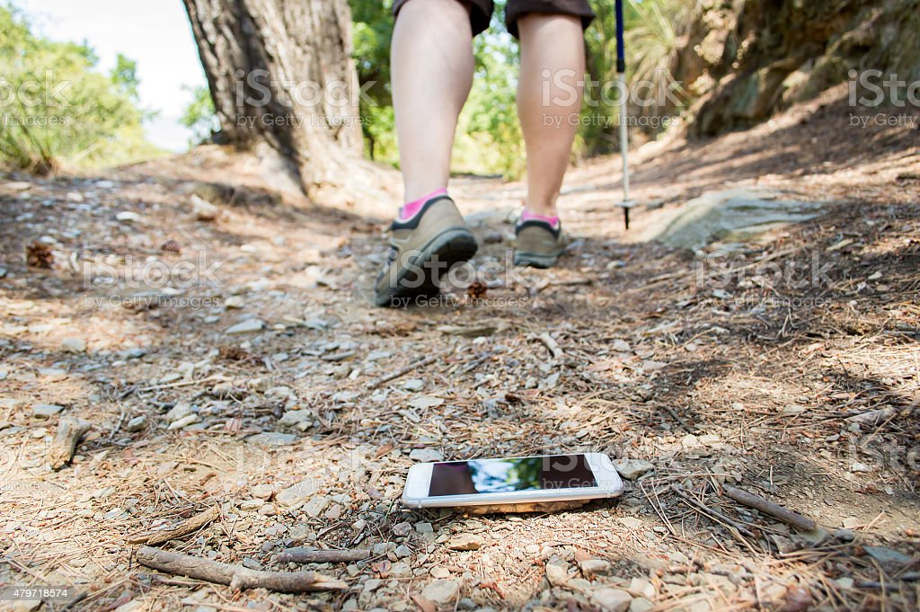 clueless hiker stock photo