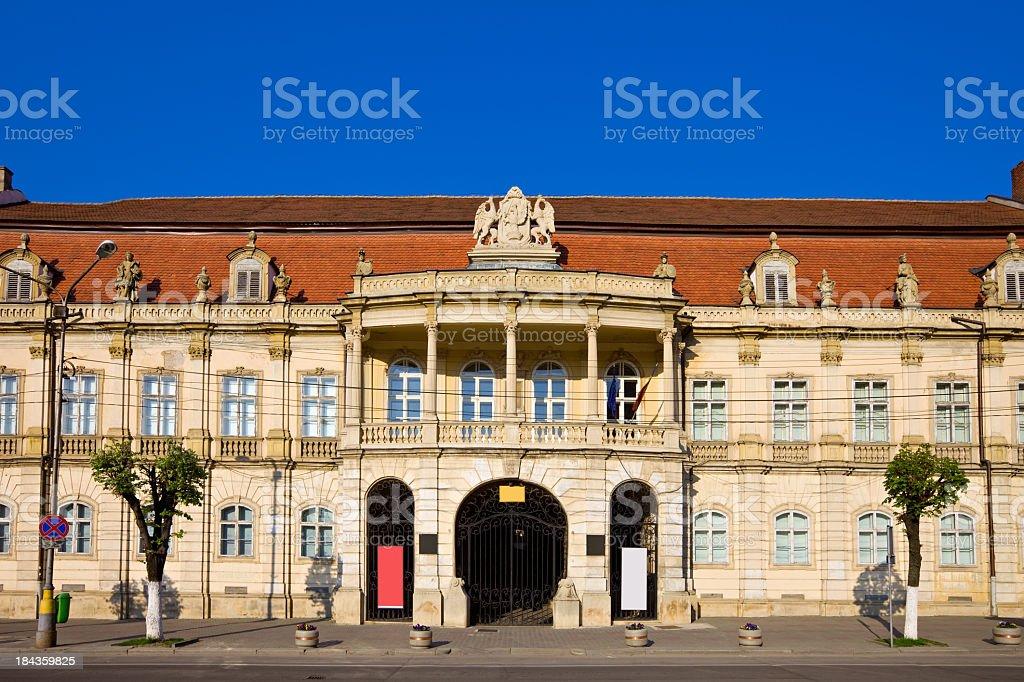 Cluj Napoca Romania Banffy Palace stock photo