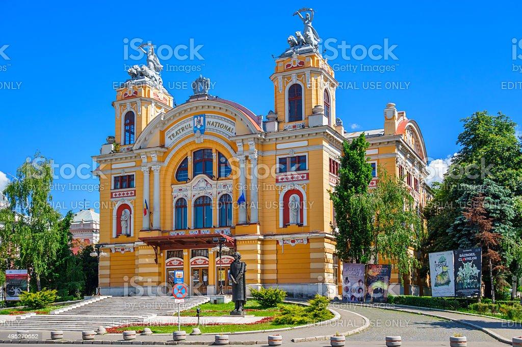 Cluj Romania National Theatre stock photo