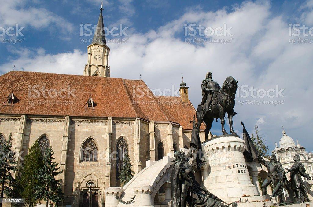 Cluj-Napoca city center stock photo