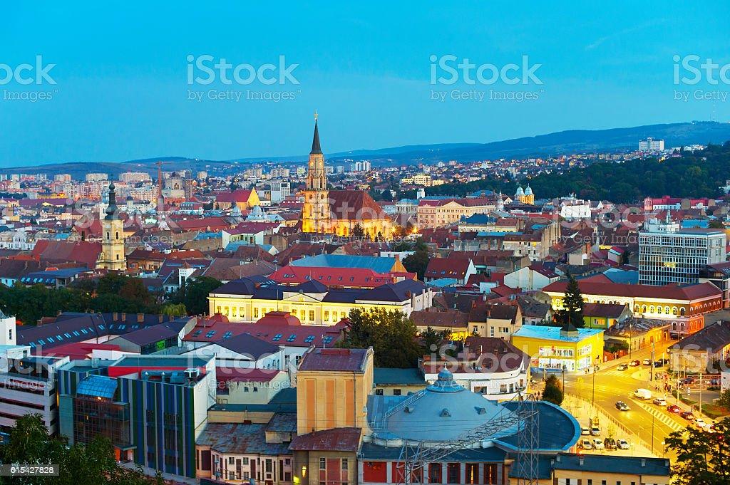 Cluj-Napoka cityscape. Romania stock photo
