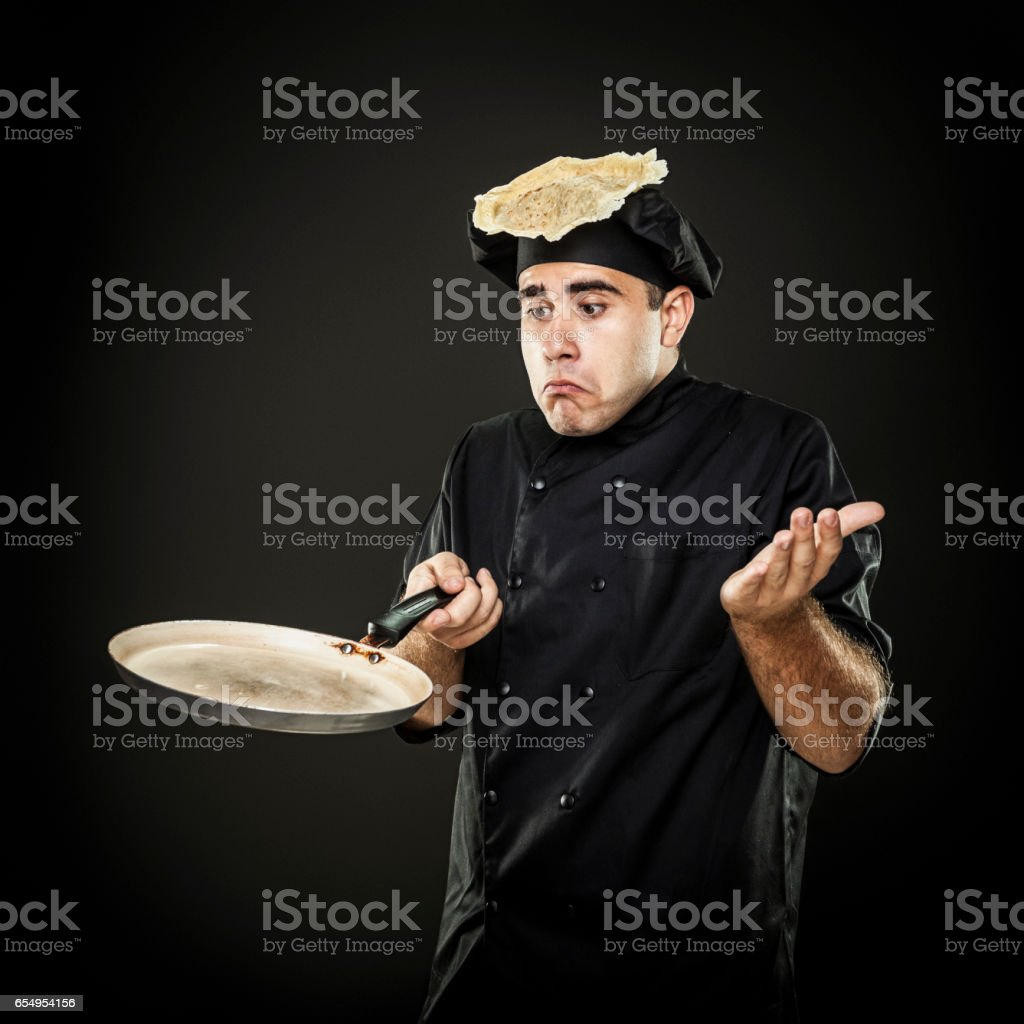 Clumsy chef stock photo