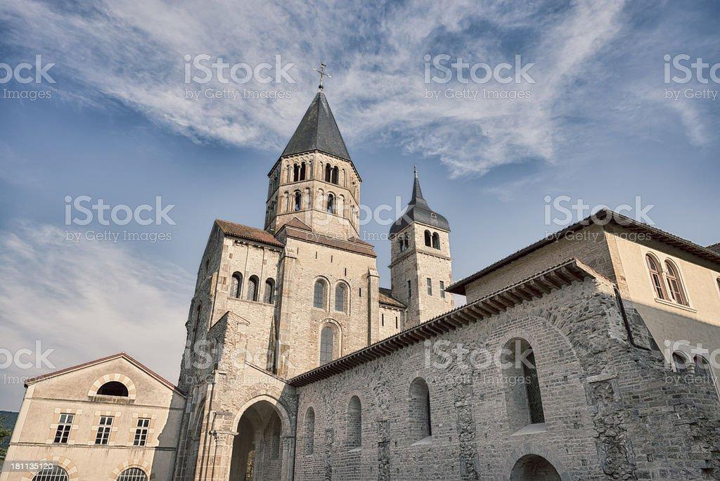 Cluny Abbey France  Beneditine Monatery royalty-free stock photo