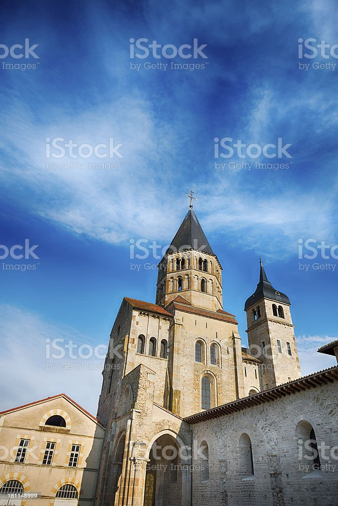 Cluny Abbey France  Beneditine Monatery stock photo