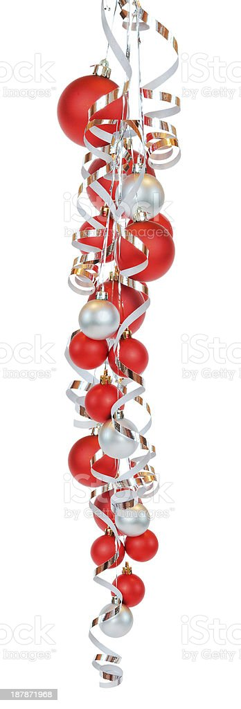 Cluster from christmas balls royalty-free stock photo