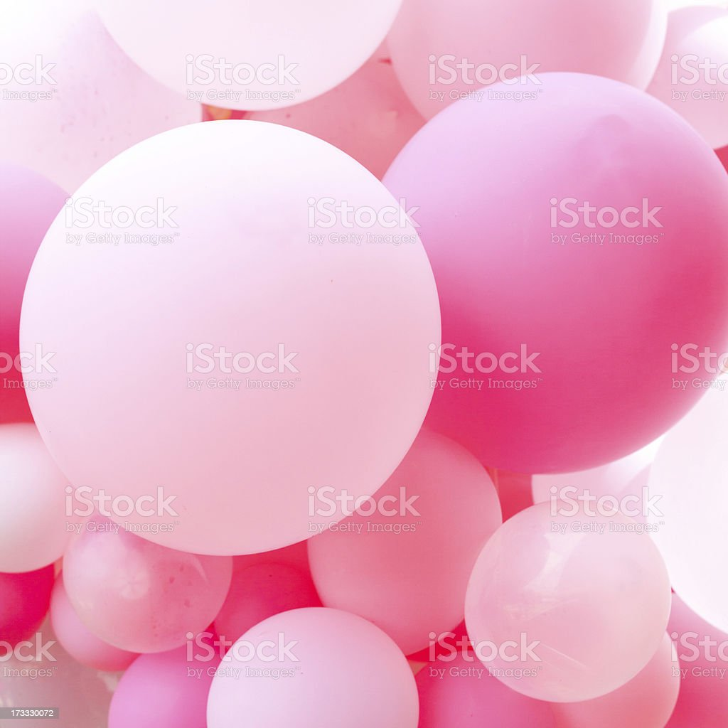 Cluster of Pink Balloons stock photo