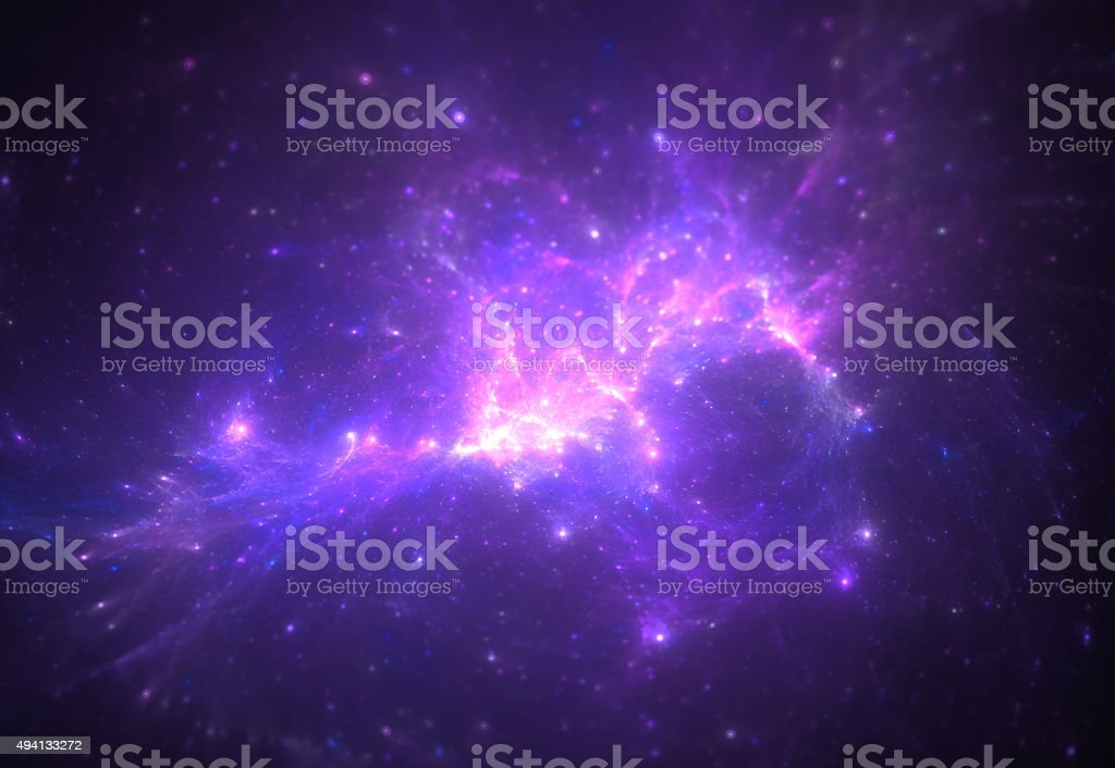 cluster of stars - scientific background stock photo