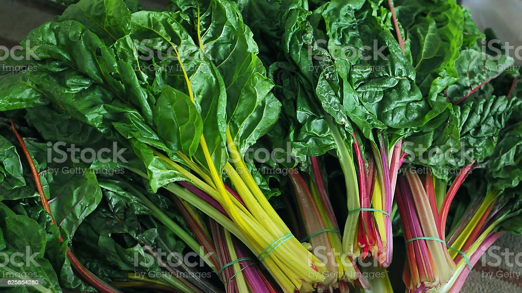 Cluster of Swiss Chard stock photo