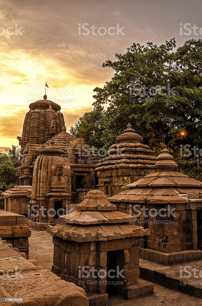 Cluster of Temples stock photo