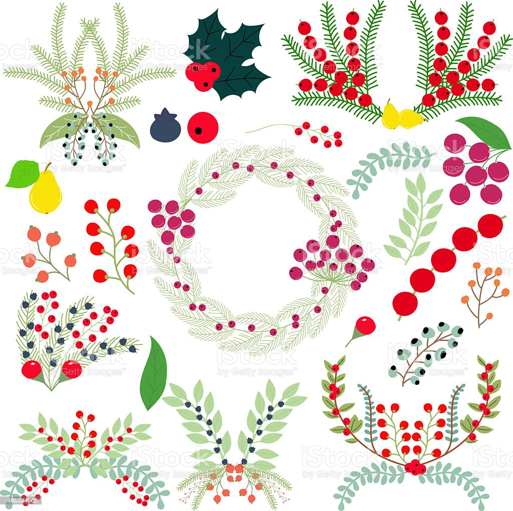 Clusters of berries stock photo