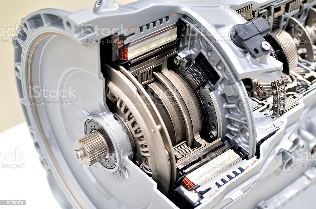 Clutch cross section. stock photo