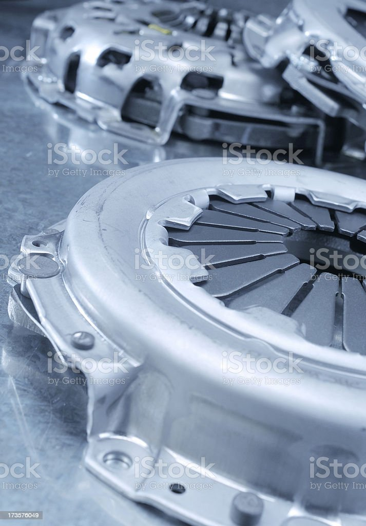 Clutch in blue royalty-free stock photo