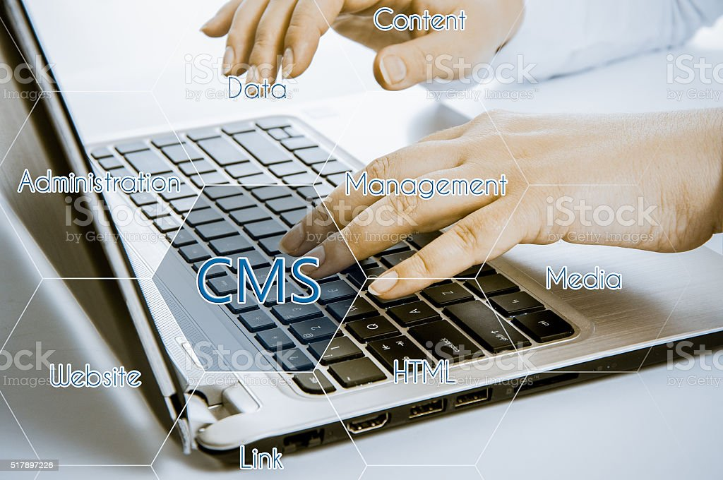 cms content management system administration website stock photo