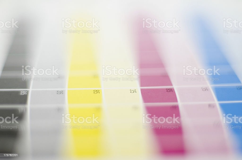 cmyk color chart stock photo