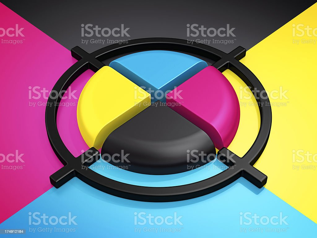 cmyk cross royalty-free stock photo