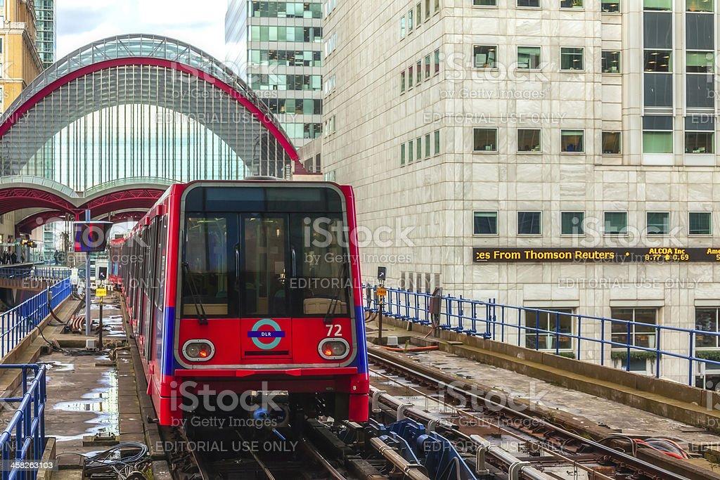 Cnary Wharf Underground Station stock photo