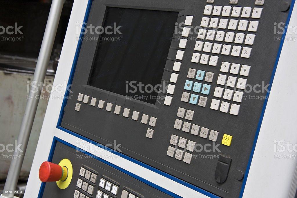 Cnc machine computer stock photo