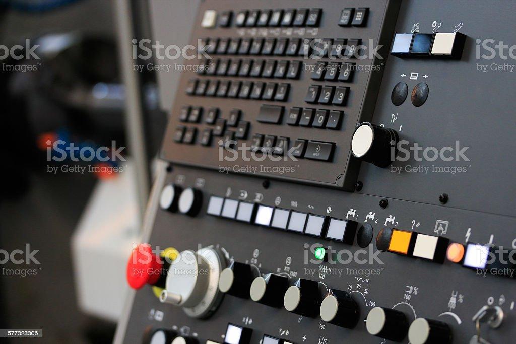 cnc machining center stock photo
