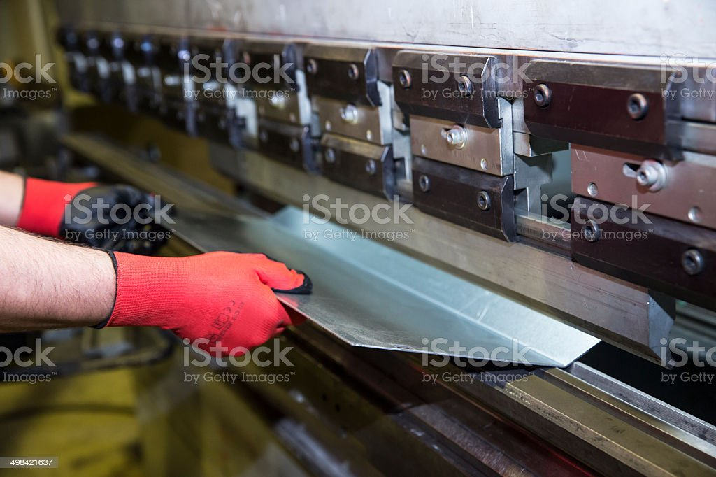 Cnc Metal Press Machine stock photo
