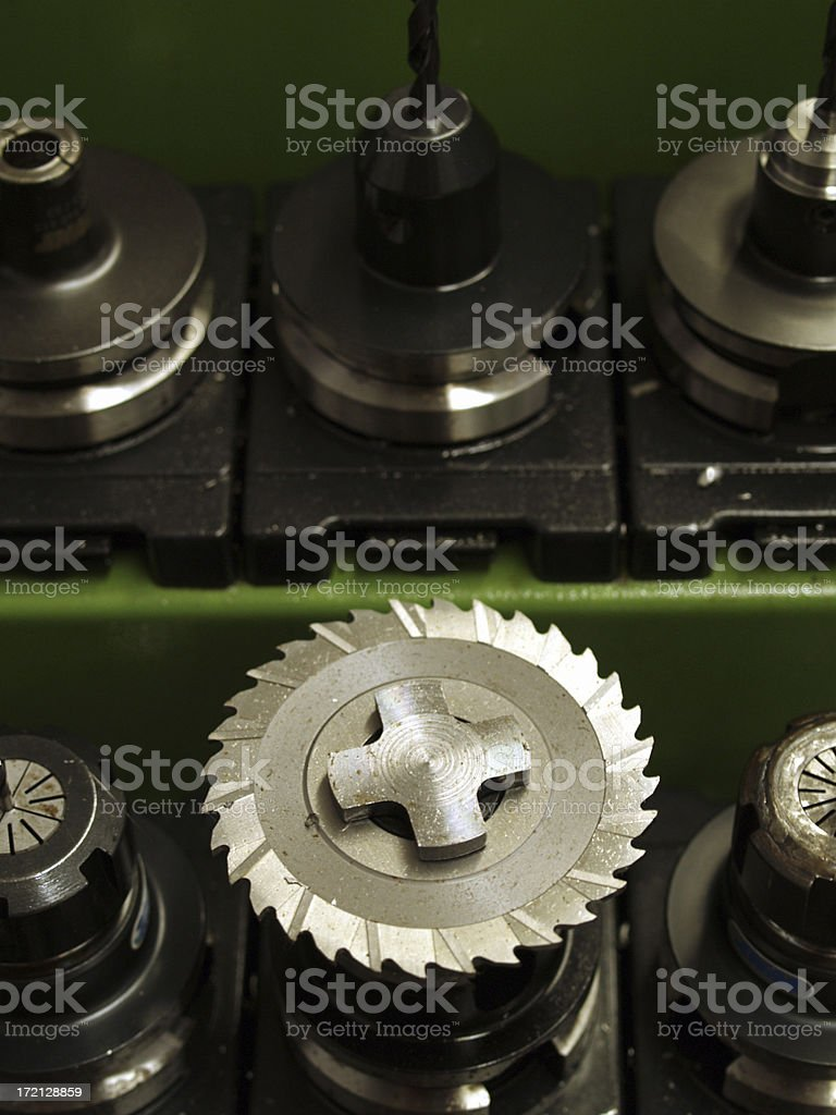 CNC-milling machine tools stock photo