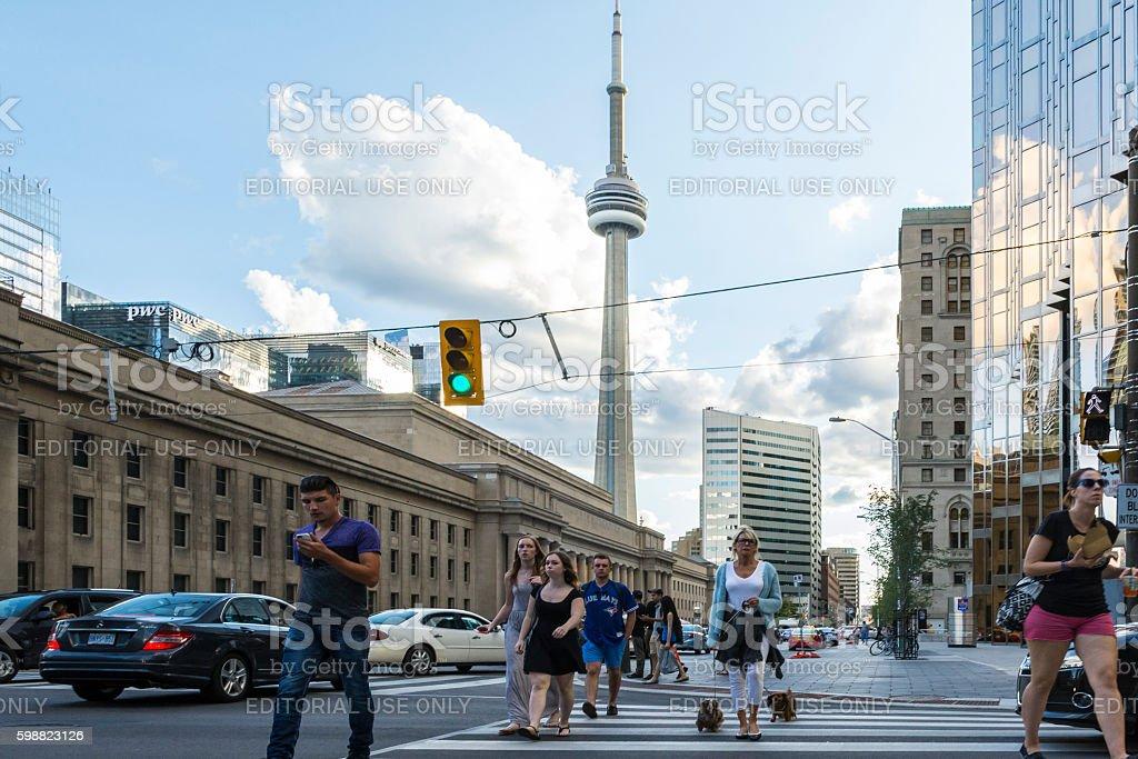 Cnn tower in Toronto stock photo