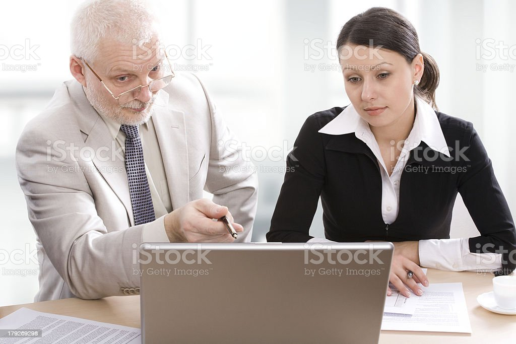 Coach and a student royalty-free stock photo