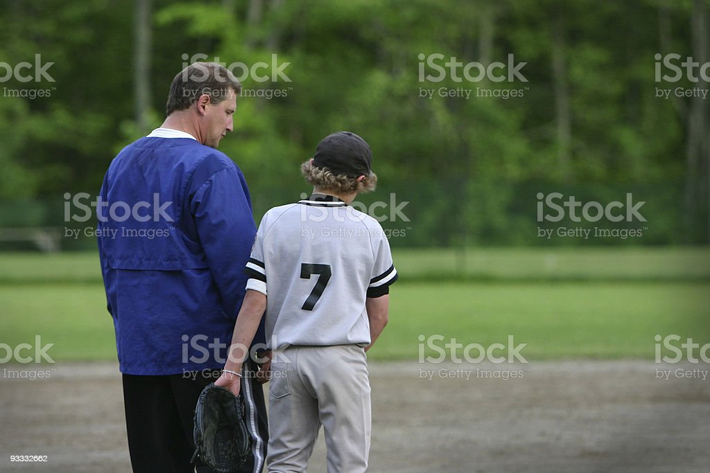 coach & dad stock photo