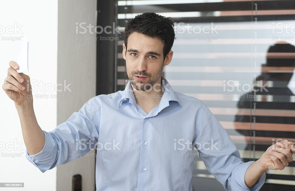 Coach is speaking and holding a speech präsentation while c stock photo