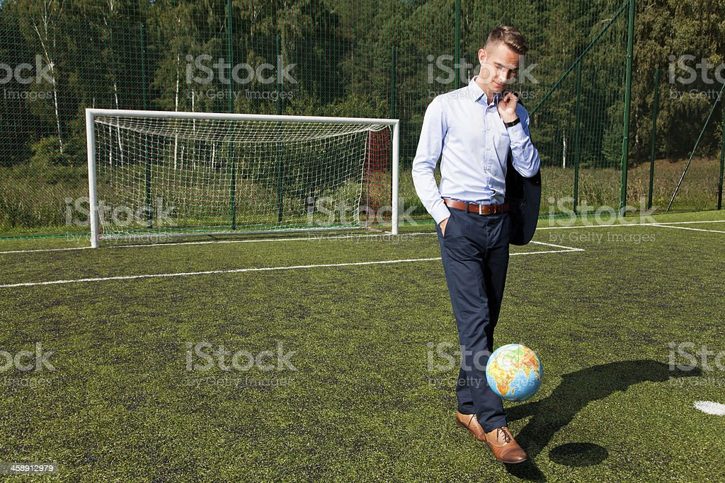 Coach of the business royalty-free stock photo